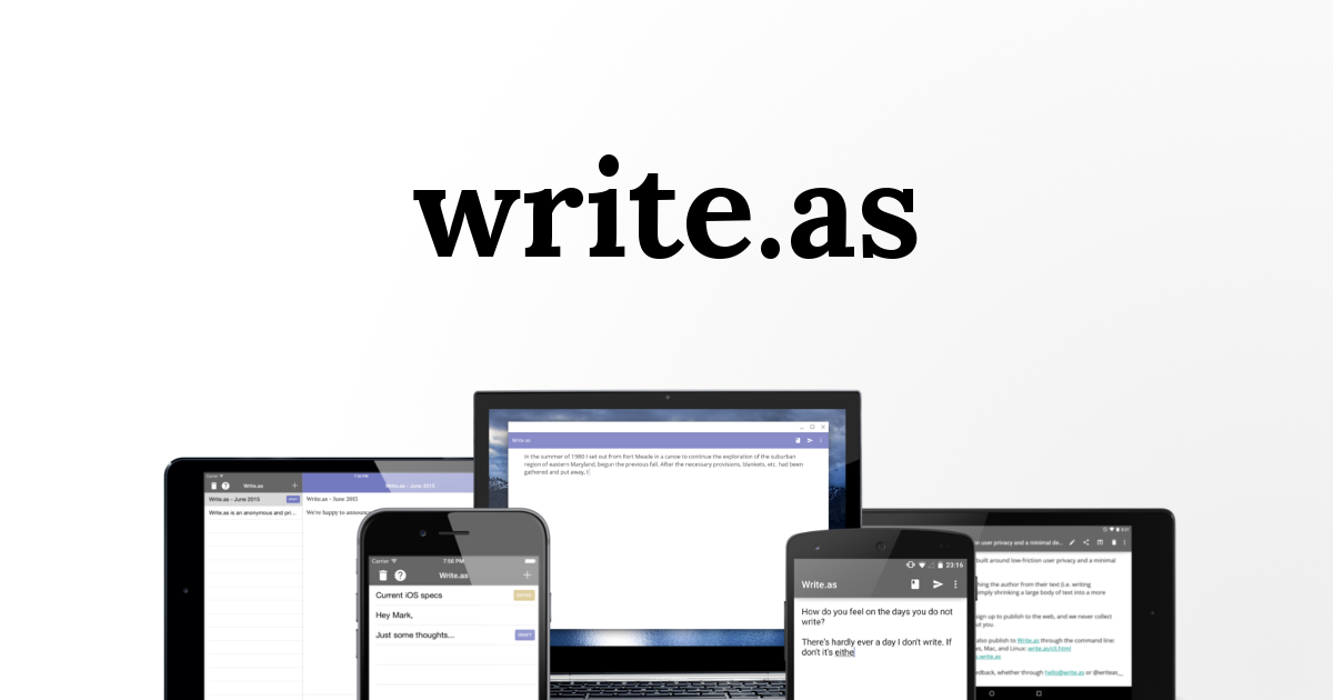 Write.as — Spread your ideas